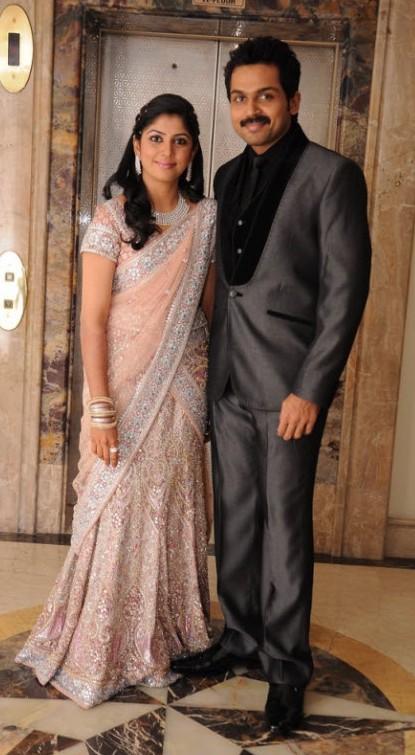 Sarees From Actor Karthi Weddingreception