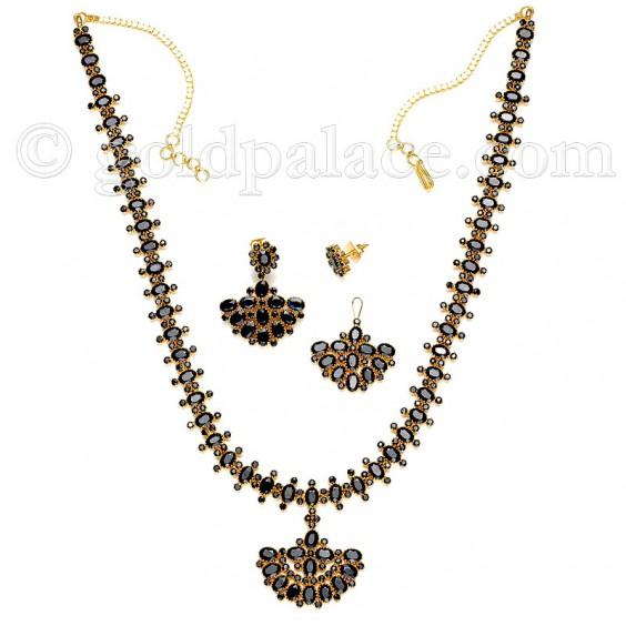 sapphire stones necklace