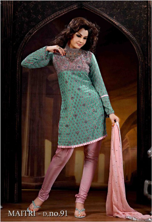 Green Viscos Salwar