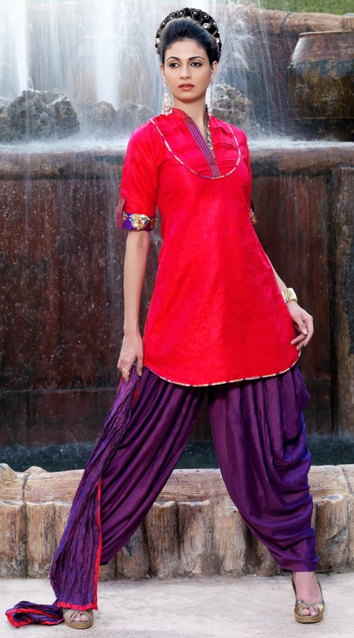 raw silk salwar kameez