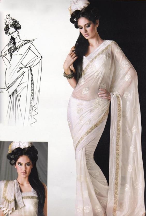 Bridal white sarees pulimoottil silks similar articles altavistaventures Image collections