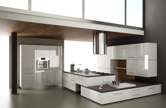 Gray Modular Kitchen