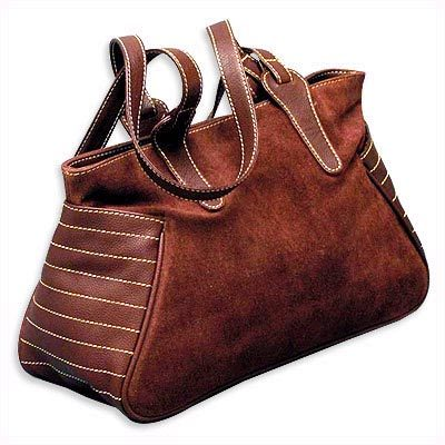 brown ladies leather handbag