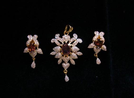 American diamond pendant sets aloadofball Image collections