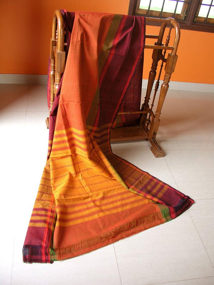Ethnic chettinad saree true indian attire for Sari furniture designer