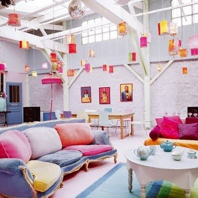 Bright And Colourful Living Room Interiors