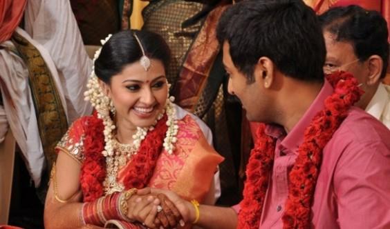 South Indian Actress Sneha Prasanna Marriage Reception Pics