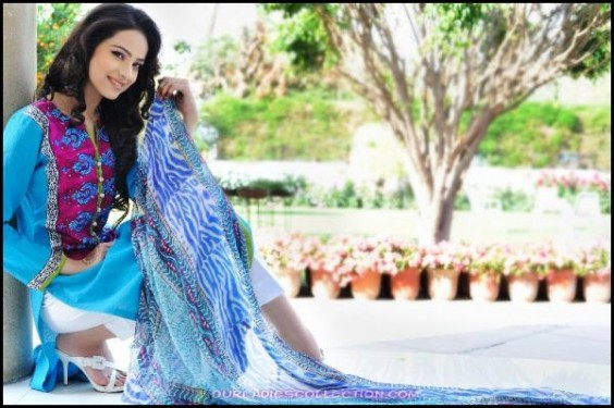 Shirin Hassan Block Print Summer Lawn Collection 2012