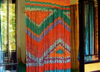ikkat bead curtain