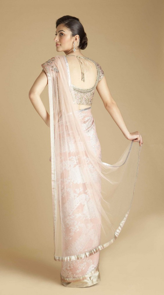 pink-peacock-motif-georgette-saree-from-gaurav-gupta