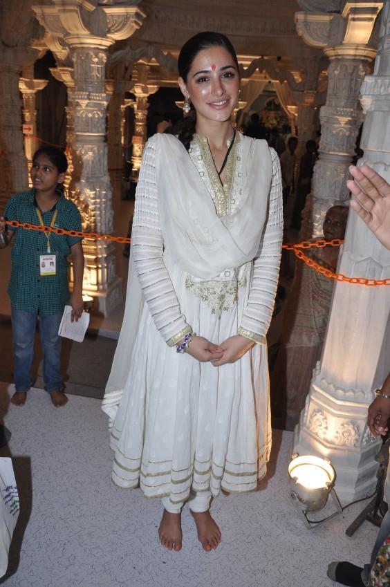 Nargis Farkhri in an Anita Dongre anarkali