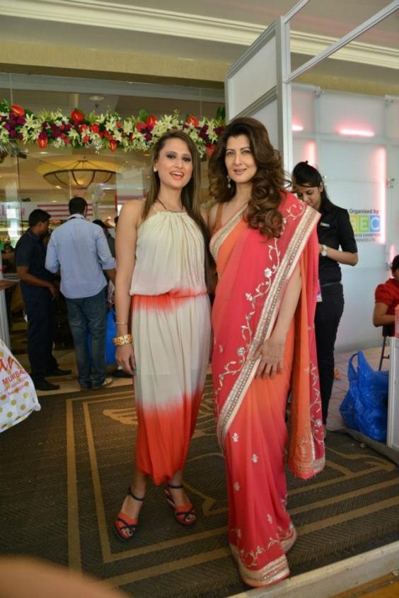Sangeeta Bijlani looks radiant in an Anita Dongre saree