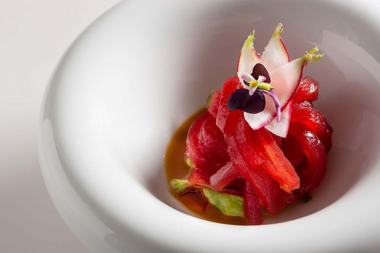 Yellowfin Tuna ribbon-francesco-tonelli-food-photography