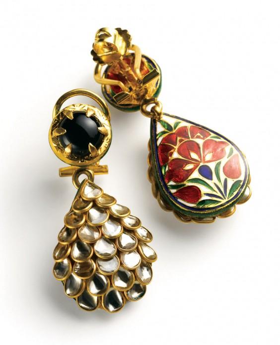 Zoya-16--Polki-earrings-with-meenakari