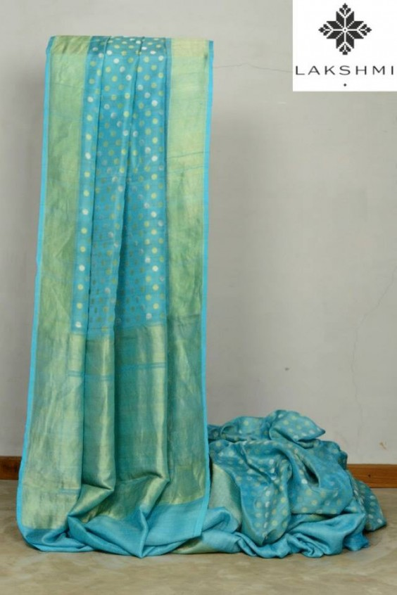 blue banaras saree