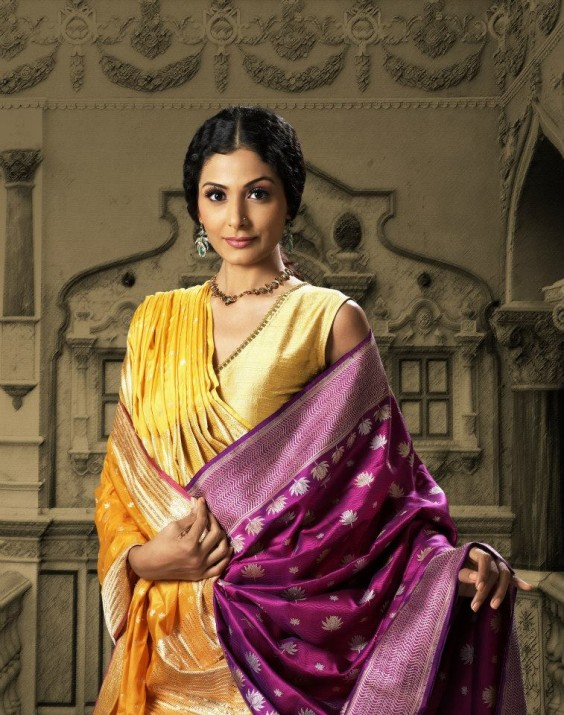 lakshmi purple kanjivaram saree