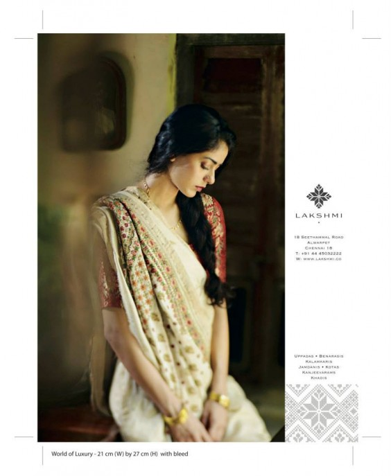 white saree from lakshmi