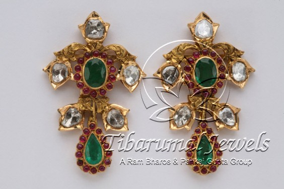 emerald-rubies-earrings