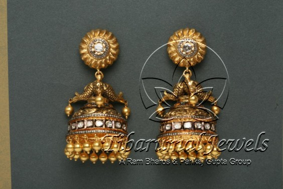fish-shaped-diamond-jhumkas