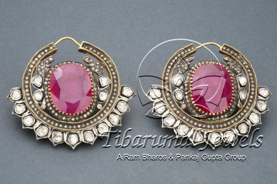 ruby-stone-earrings