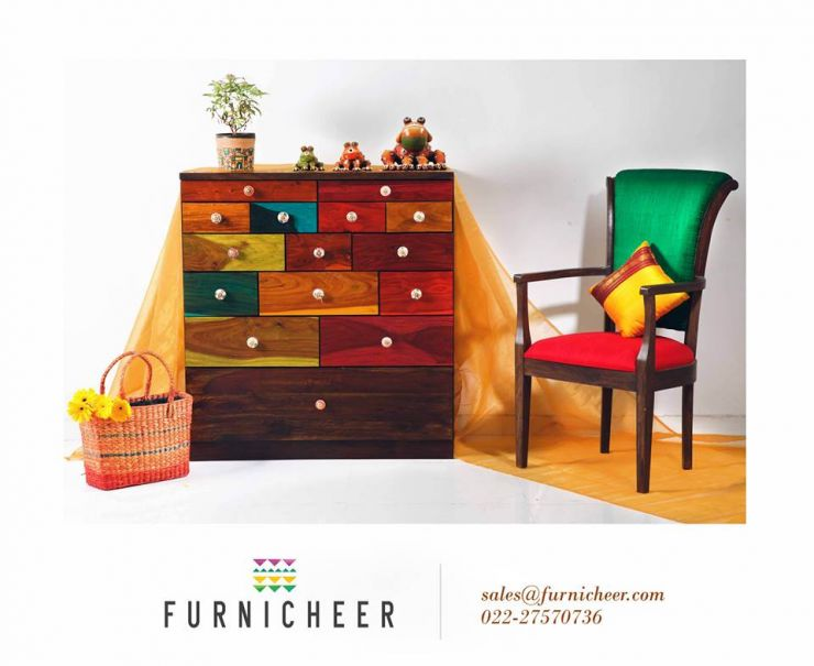 Multicolour Chest From Furnicheer Ethnic Furniture