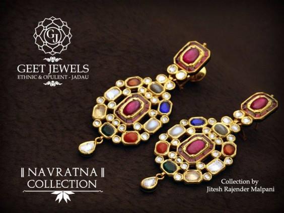 navaratna earrings