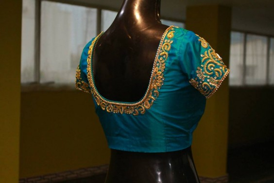 classic zardosi work blouse