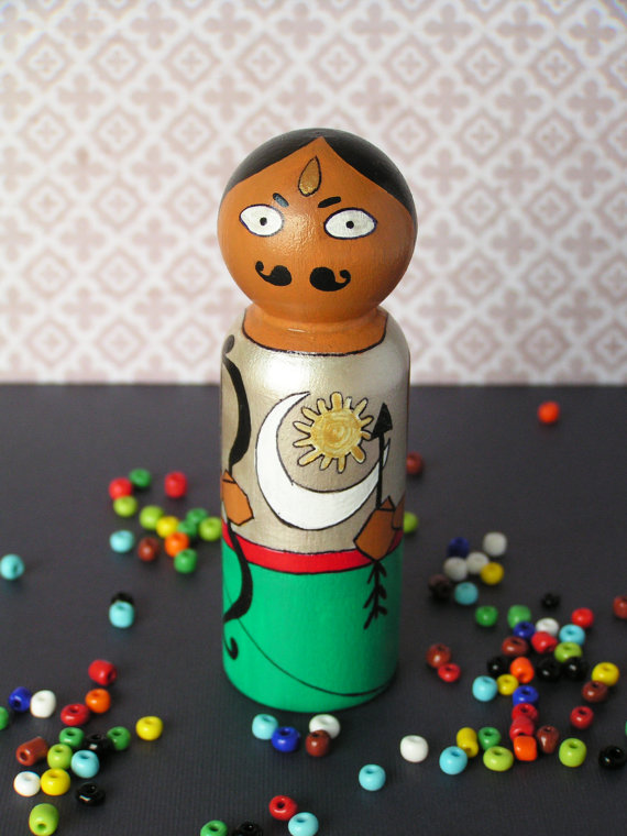 Arjuna - Hand Painted Wooden Golu Dolls