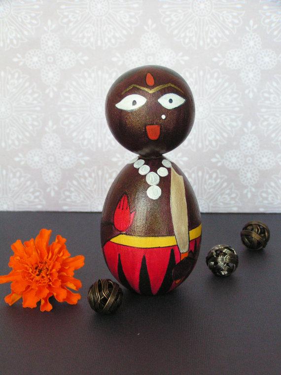 Kali Devi - Handpainted Wooden Golu Dolls