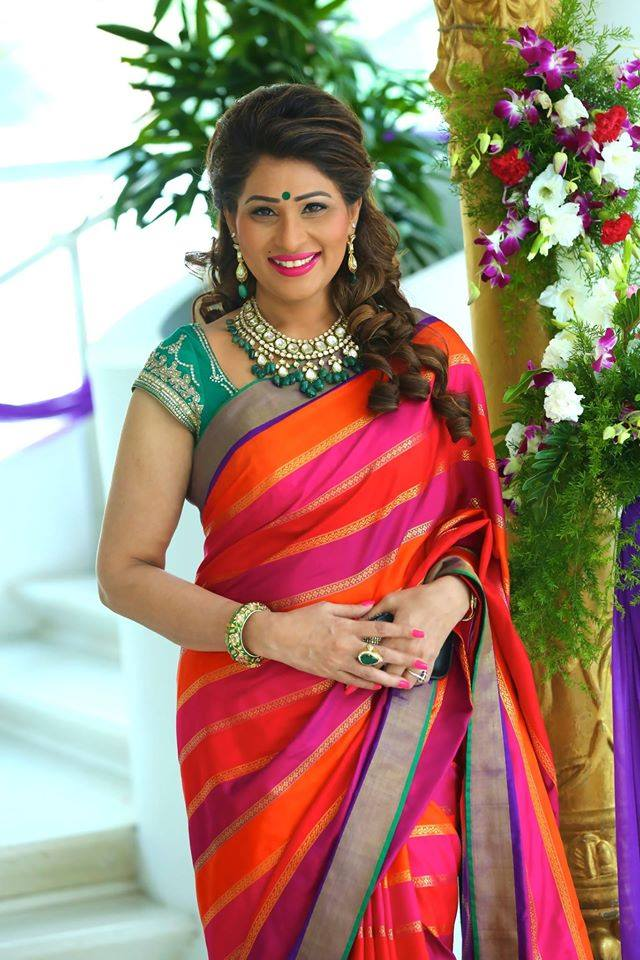 shreedevi chowdhary in emerald necklace from mbs jewellers