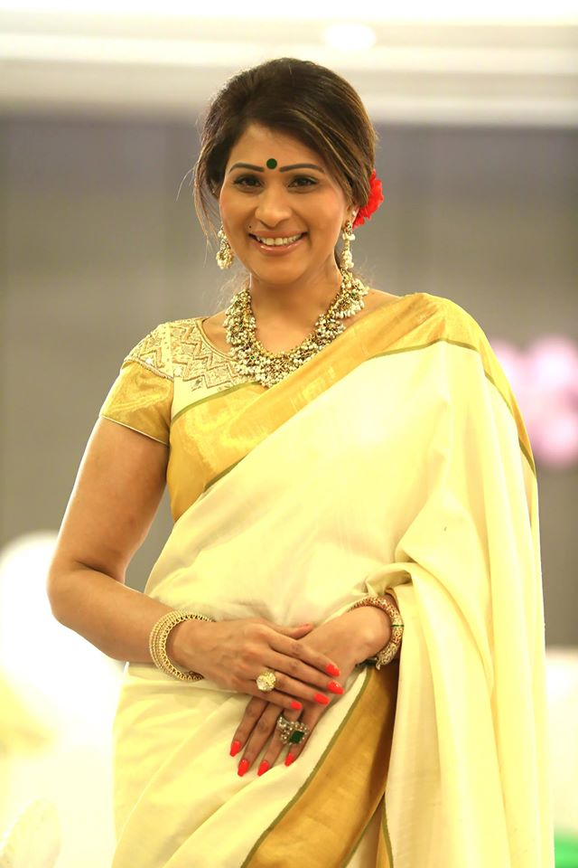 shreedevi chowdhary in gotta pusala mala from mbs jewellers