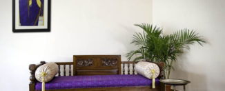 antique kerala day bed