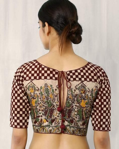 back open kalamkari blouse