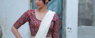 simple kalamkari blouse