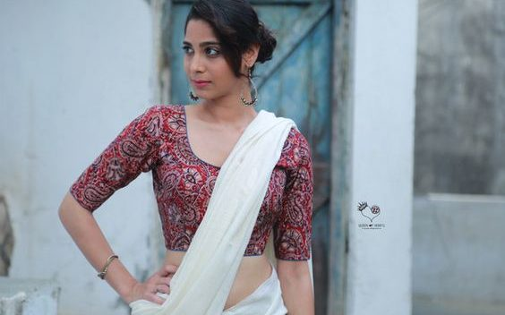 simple kalamkari blouse