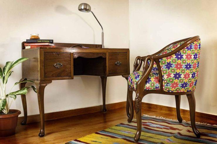 teakwood antique study table