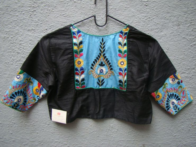 black kutch work blouses from house of taamara