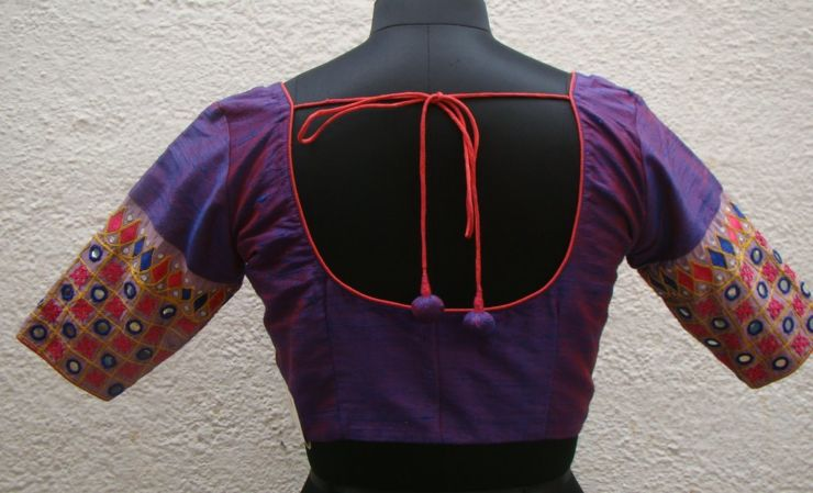 magenta kutch work blouses from house of taamara